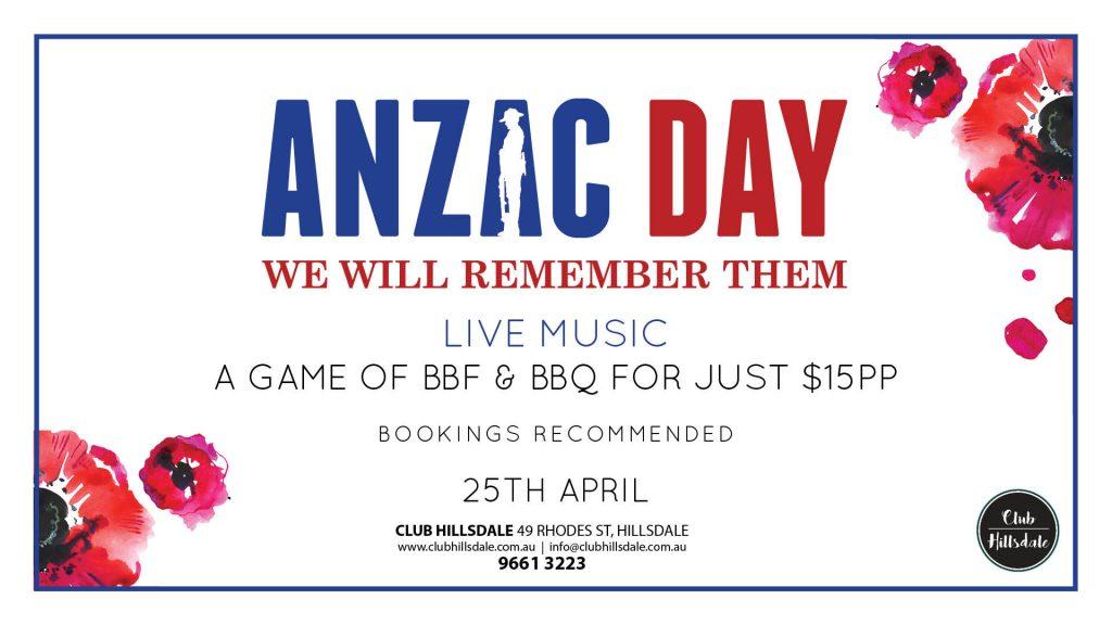 Anzac Day at Club Hillsdale